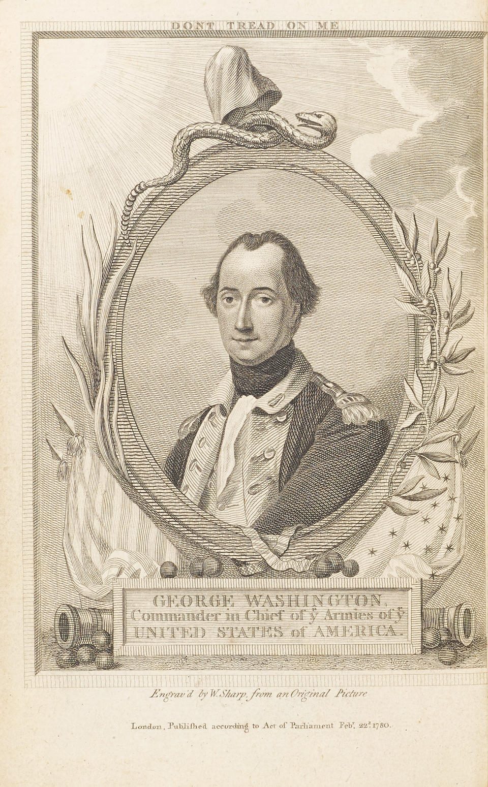 WASHINGTON, GEORGE. 1732-1799.  The Journal of Major George Washington, sent by the Hon. Robert Dinwiddie, Esq. ... — to the Commandant of the French Forces on Ohio. London: T. Jefferys, 1754.