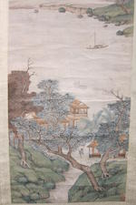 After Qian Du (19th/20th century) Autumn Landscape after Wen Zhengming