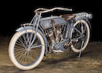 The ex-Steve Mcqueen, Otis Chandler,1914 Pope 61ci Model L Twin Engine no. 3L19A6