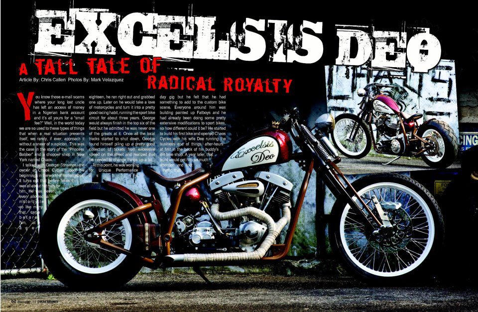 The property Princess Gloria von Thurn und Taxis, 2011 Chaos Cycle 'Excelsis Deo' Bobber Frame no. to be advised Engine no. to be advised