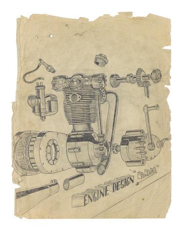 Von Dutch (Kenneth Howard 1929 – 1992) 'Engine Design'  (1)