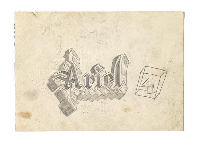 Von Dutch (Kenneth Howard 1929 – 1992) 'Ariel Logo'  (1)