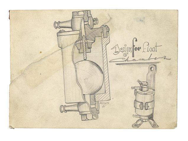 Bonhams : Von Dutch (Kenneth Howard 1929 – 1992) 'Design for