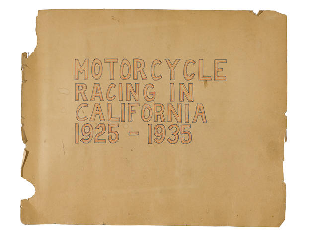 'Motorcycle Racing in California' Scrapbook  (3)