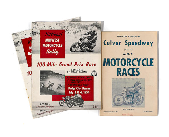 A good selection of motorcycle racing programmes from 1952-1961  (Qty)
