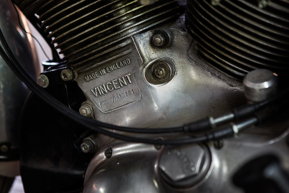 1954 Vincent 998cc Rapide Series-C 'Shadowized' Frame no. RC 1/7257 Engine no. F10AB/1/10191