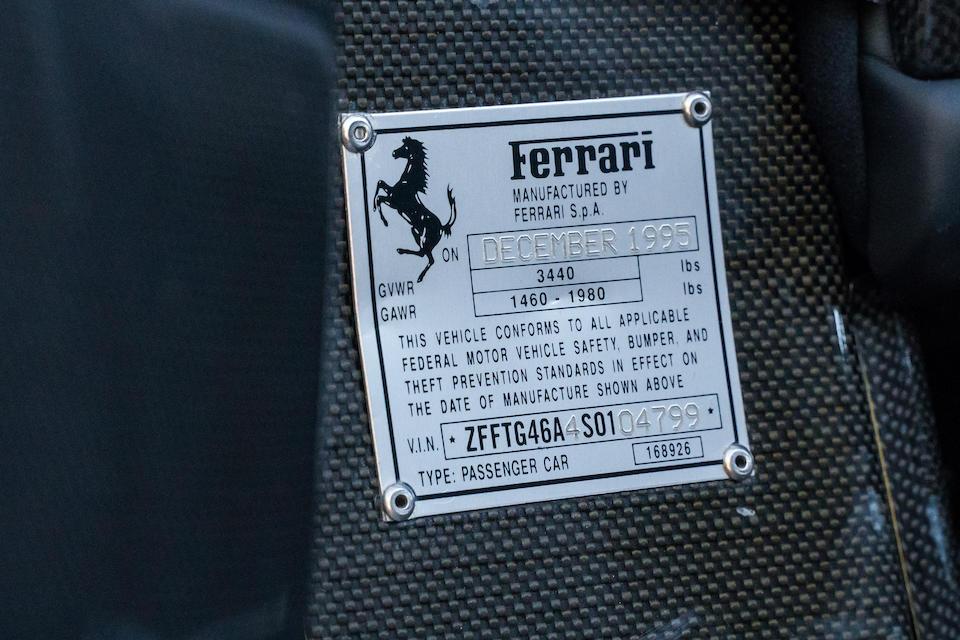 <b>1995 Ferrari F50</b><br />VIN. ZFFTG46A4S0104799<br />Engine no. 41201