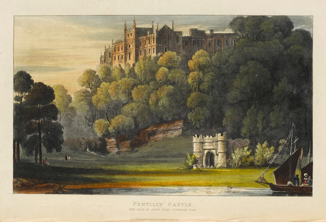 WESTALL, WILLIAM. 1781-1850; AND JOHN GENDALL. 1790-1865. Views of Country Seats of the Royal Family, Nobility and Gentry of England.  London: R. Ackerman, 1830.