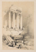 ROBERTS, DAVID. 1796-1864. The Holy Land, Syria, Idumea, Arabia, Egypt & Nubia from drawings made on the spot by David Roberts R.A. with historical descriptions by the Revd. George Croly LL.D. London: F.G. Moon, 1842-43-46-49.