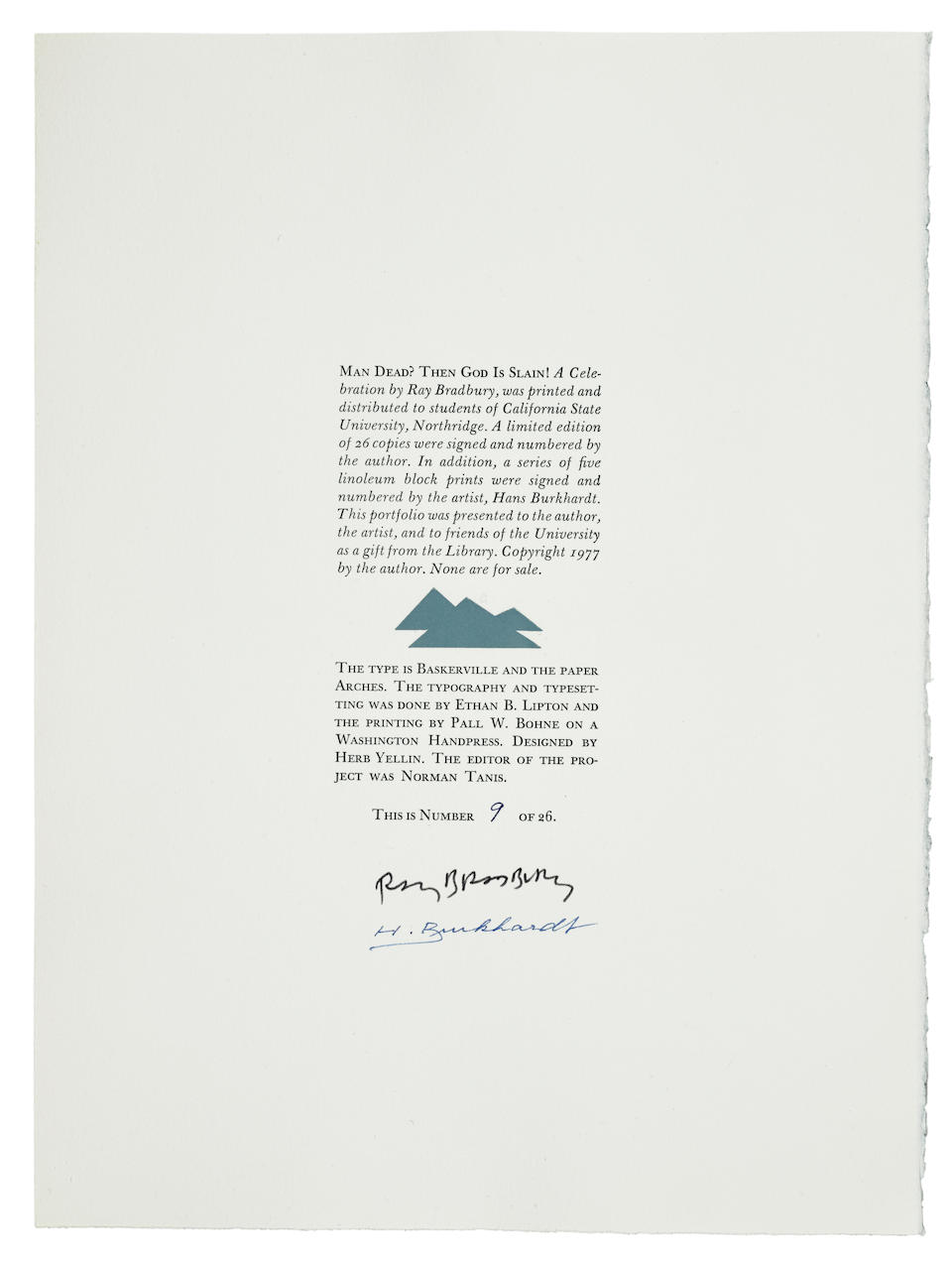 BRADBURY, RAY. 1920-2012. A  large collection of limited editions, approximately 72 volumes, including: