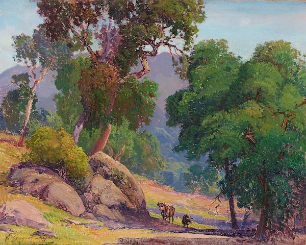 Fred Grayson Sayre (American, 1879-1939) Pastoral II 16 x 20in (40.6 x 50.8cm)