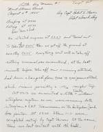 Lewis, Robert A. 1917-1983. Autograph Manuscript, being a fair copy of Lewis's original 1945 log book of the flight of the Enola Gay,