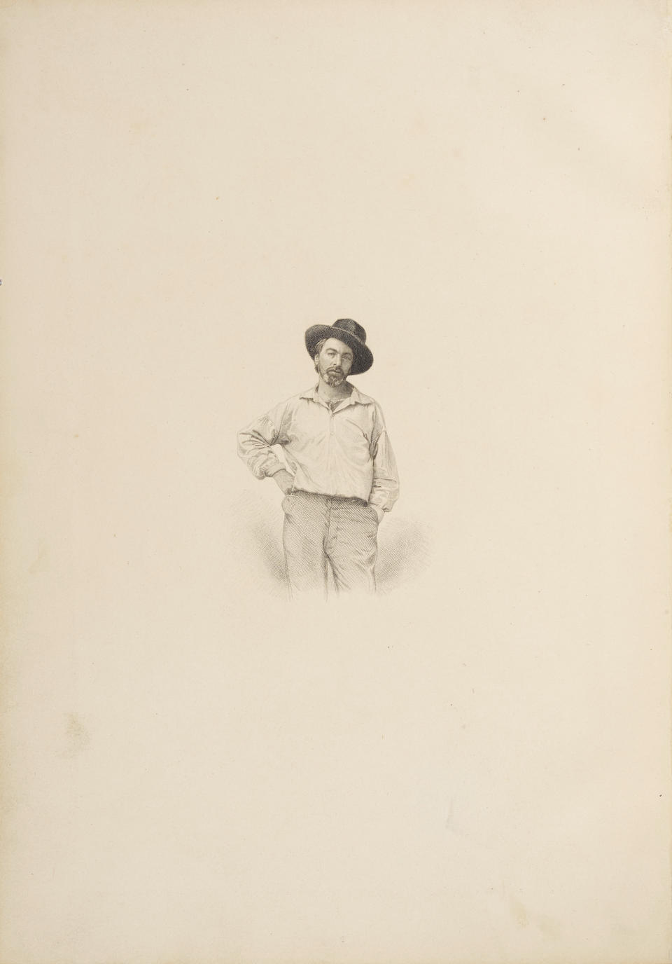 WHITMAN, WALT. 1819-1892. Leaves of Grass Brooklyn: [For the author], 1855.