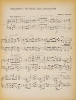 BARBER, SAMUEL. 1910-1981, AND JOHN BROWNING. 1933-2003. Early working copy of the reduced two piano score for Barber's Concerto for Piano and Orchestra, Op 38,