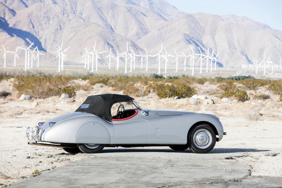 <b>1953 Jaguar XK120 Roadster</b><br />Chassis no. 674160<br />Engine no. W9314-8