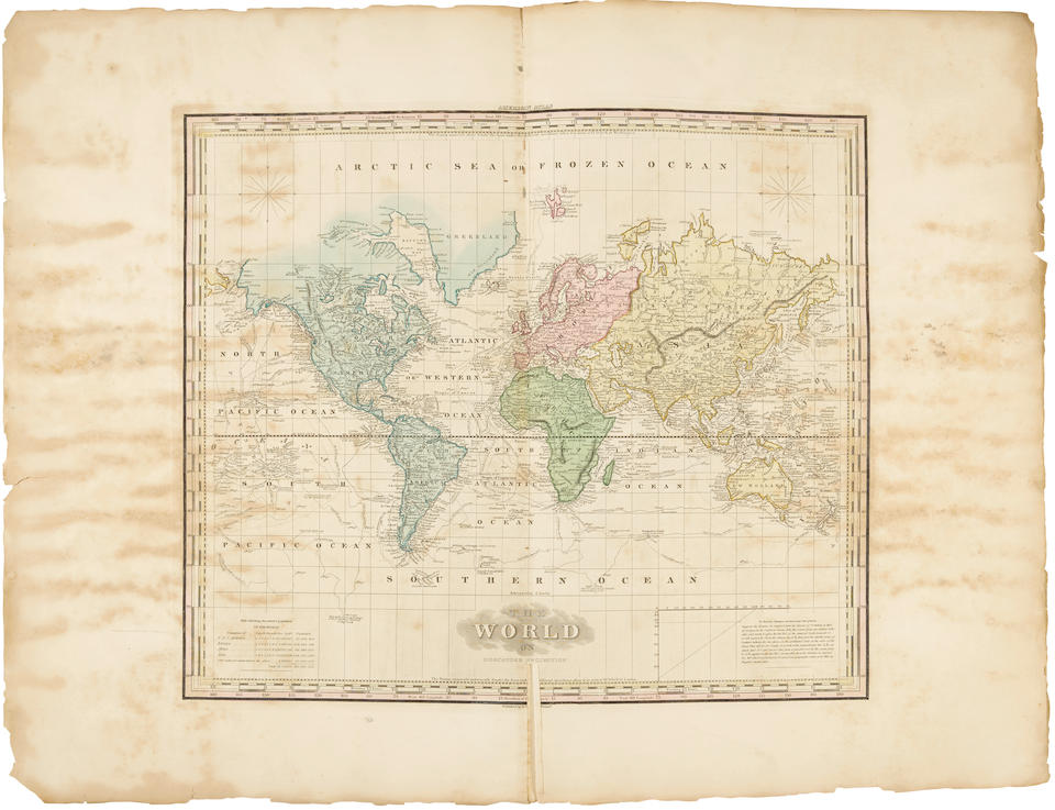 TANNER, HENRY SCHENCK. 1786-1858. A New American Atlas containing Maps of Several States of the  North American Union, projected and drawn on a uniform scale. Philadelphia: 1818-23.