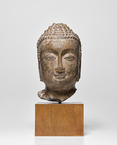 A Limestone Head of Buddha  Northern Qi/Sui Dynasty