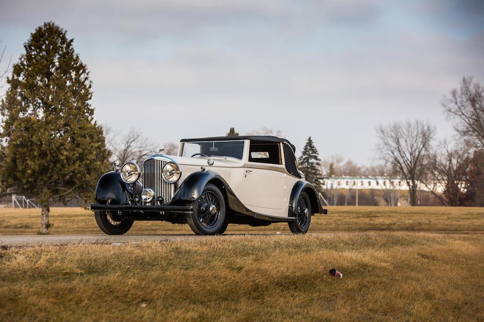 <b>1936 Bentley 4&#188; Liter Drophead Coupe</b><br />Chassis no. B57KU<br />Engine no. Z6BM