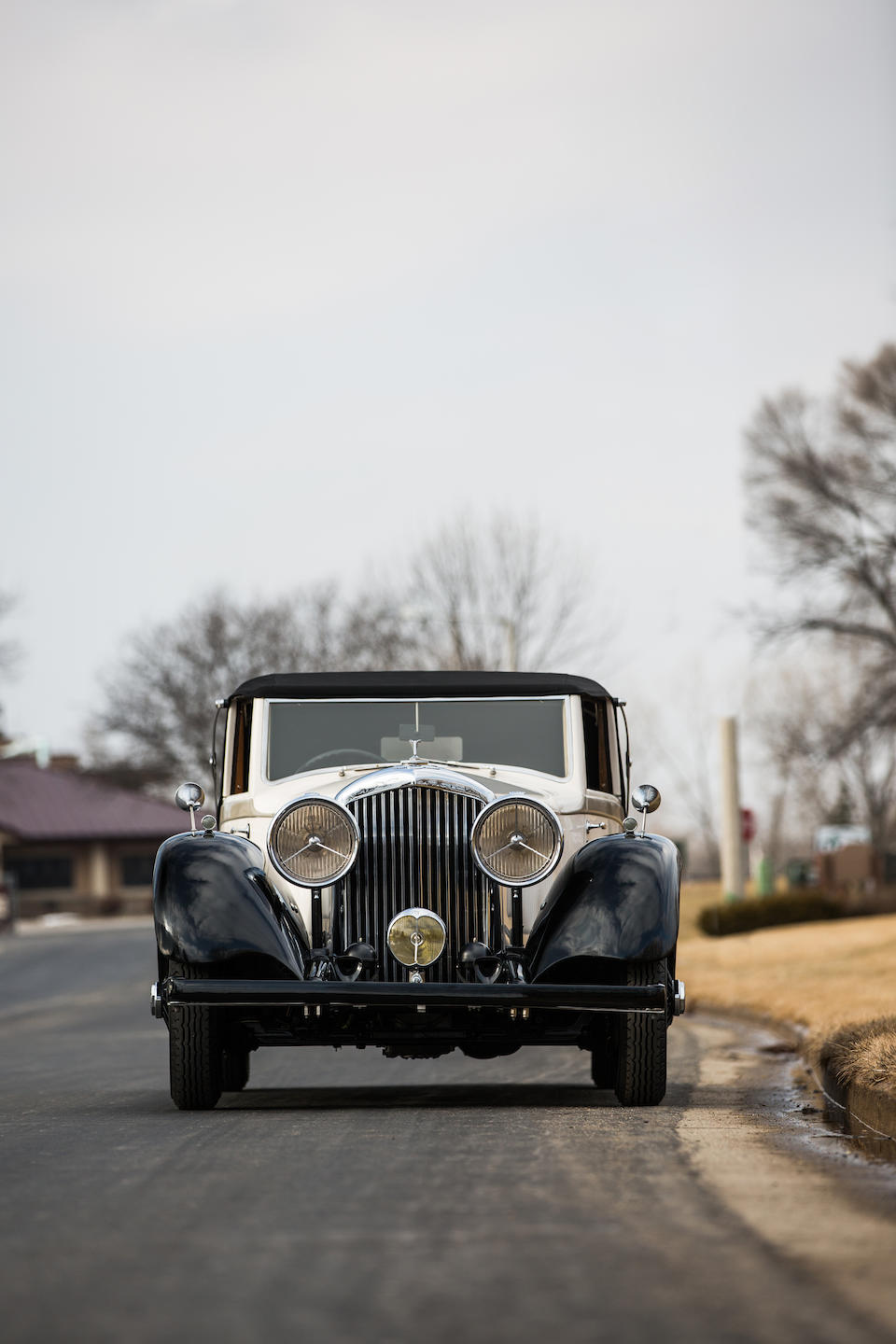 <b>1936 Bentley 4&#188; Liter Drophead Coupe</b><br />Chassis no. B57KU<br />Engine no. Z6BM