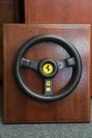 A 1975 Ferrari F1 Momo Steering Wheel