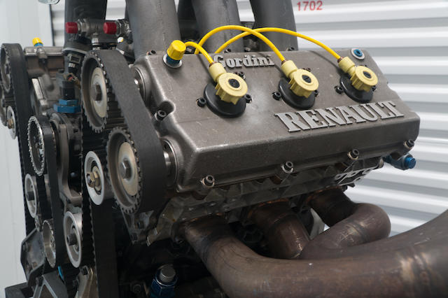 A 1984/5 Mirage Manufactured 2.65 Liter V6 Turbo Indy Motor, stated to be in runnable condition, and together with spare heads, pistons, rods and cranks.