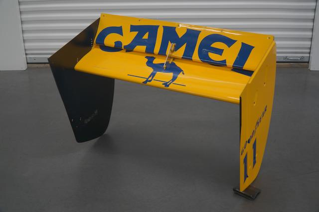 A 1989 Camel-Lotus Tail Fin, for Lotus 101
