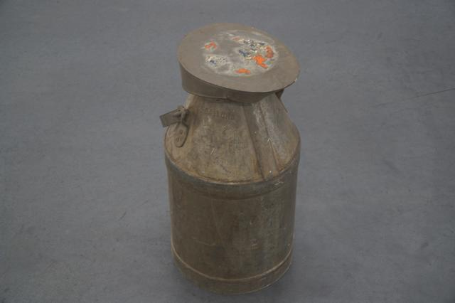 A 3 Gallon (imperial measures) 'Milk Can' Style Fuel Jug used for refueling the Gulf-Wyer, 1967 Gulf Mirages, 1968-69 Gulf GT40s and the 1970 Gulf-Porsches