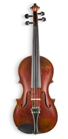VIOLIN BELONGING TO ALBERT EINSTEIN. Violin with spruce top, maple sides, back and neck, carved scroll headstock, 1933,