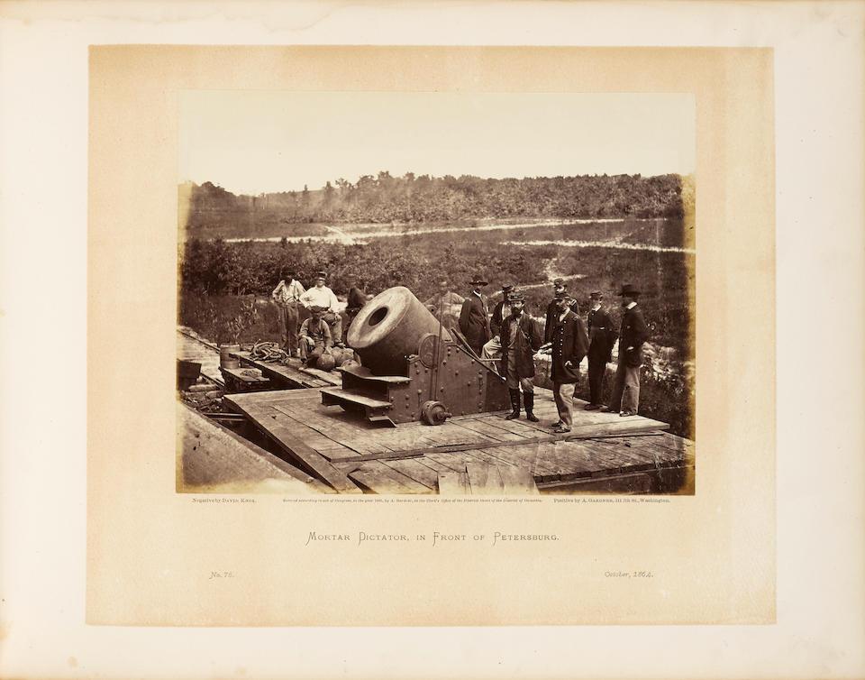 GARDNER, ALEXANDER. 1821-1882. Gardner's Photographic Sketch Book of the War.  Washington: Philip & Solomons, [1865-1866].