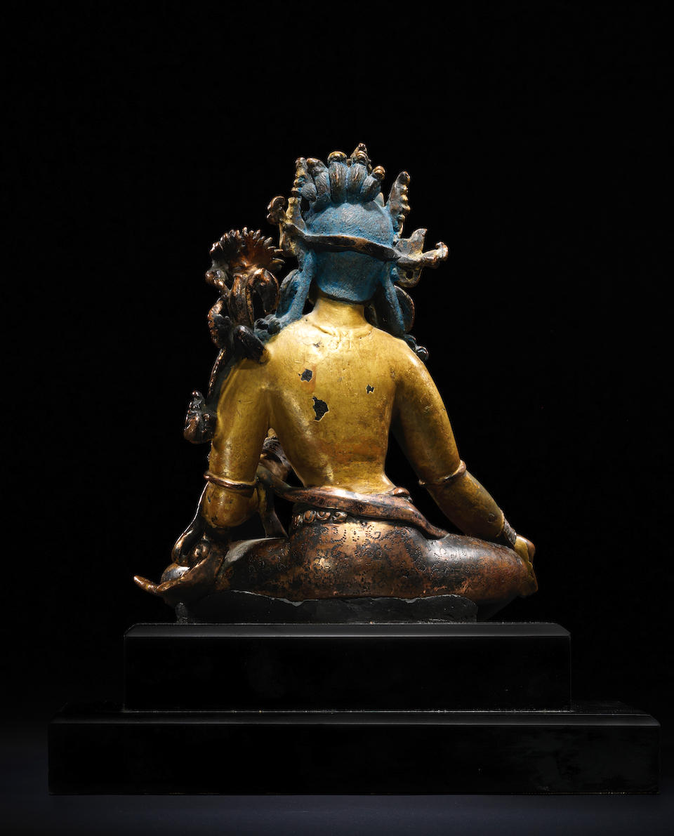 A COPPER FIGURE OF SYAMATARA NEPAL, 14TH CENTURY