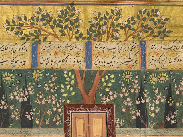 AN ILLUSTRATION FROM A SHAHNAMA SERIES: ARDASHIR RECOGNISES HIS SON SHAPUR AT A POLO GAME SHIRAZ, CIRCA 1560