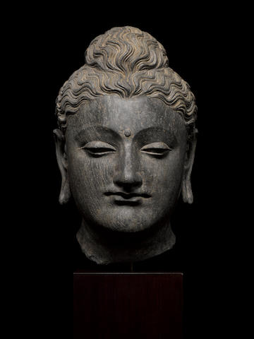 Bonhams A Schist Head Of Buddha Ancient Region Of Gandhara 3rd 4th Century