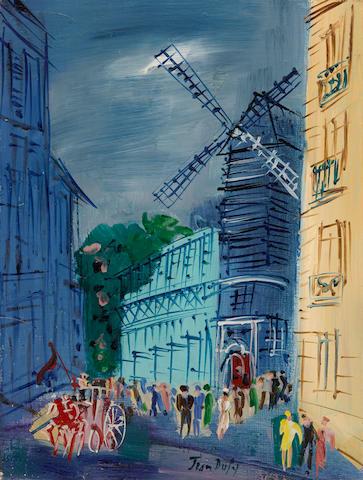 JEAN DUFY (1888-1964) Le Moulin de la Galette 13 3/4 x 10 5/8 in (35 x 27 cm)