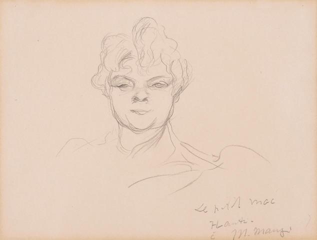 Henri de Toulouse-Lautrec (1864-1901) Rolande, dite le petit mac 7 1/2 x 10 1/2 in (19 x 26.5 cm) (Executed in 1894)