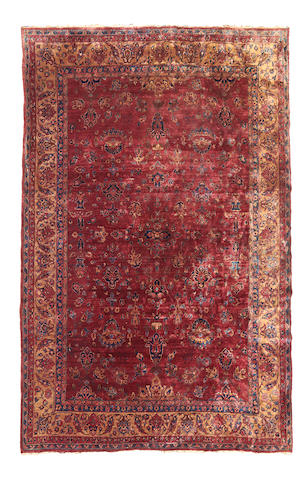 A Kashan carpet Central Persia dimensions approximately 12ft 5in x 9ft 3in (378.5 x 282cm)