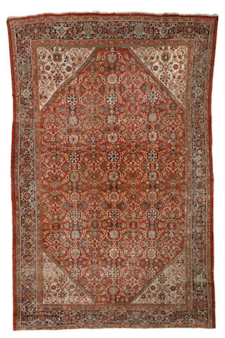 A Mahal carpet Central Persia dimensions approximately 14ft 8in x 10ft 3in (446 x 313cm)