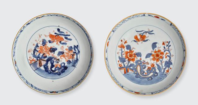 Two 'Chinese Imari' dishes  Kangxi period