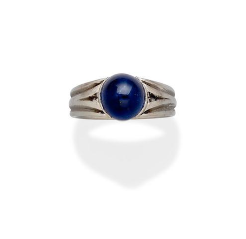 A sapphire and platinum ring,  Boucheron, Paris