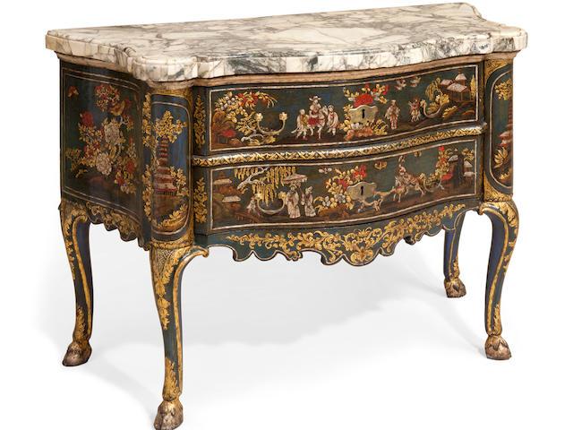 An impressive Italian Rococo chinoiserie decorated chest mid 18th century