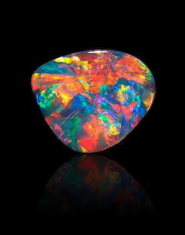 "Exceptional Black Pattern Opal--""Fireworks"""
