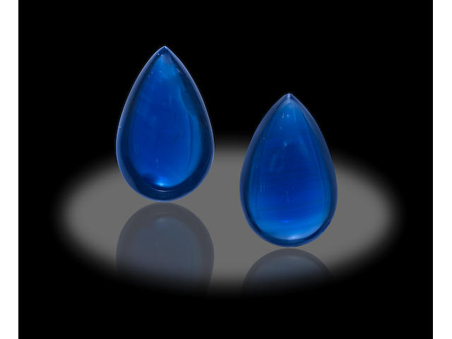 Pair of Sapphire Cabochons
