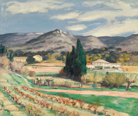 Albert André (1869-1954) Paysage (ferme dans la région de Laudun) 21 1/4 x 25 5/8 in (54 x 65 cm)