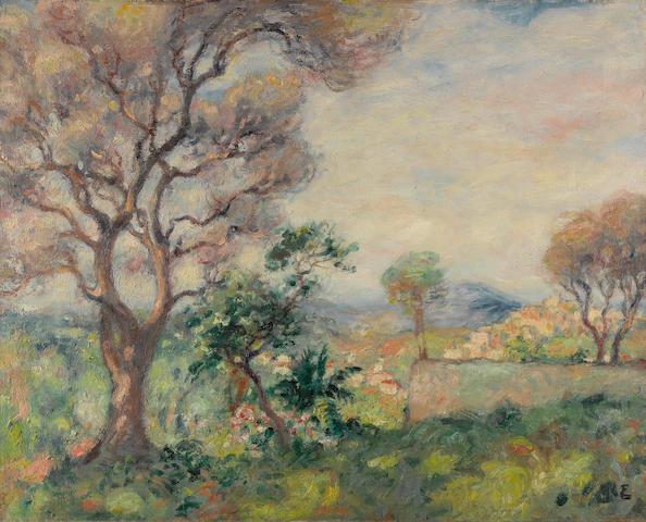 GEORGES D'ESPAGNAT (1870-1950) Environs de Cagnes 25 5/8 x 31 7/8 in (65.3 x 81 cm)