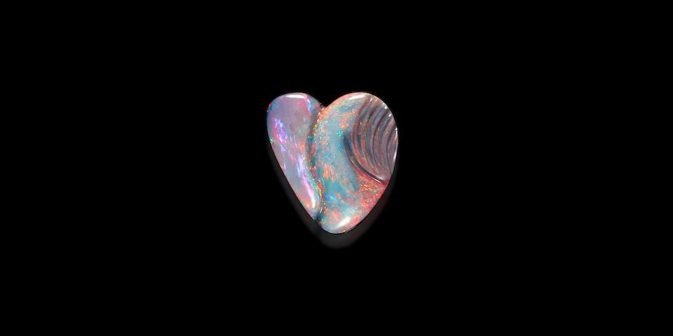 Carved Black Opal By Glenn Lehrer