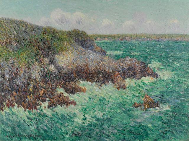 GUSTAVE LOISEAU (1865-1935) Rochers de Saint-Lunaire 23 5/8 x 31 7/8 in (60 x 81 cm) (Painted in 1904)
