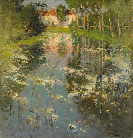 Pierre Eugène Montézin (1874-1946) Sur les bords du Ruisseau 28 3/4 x 27 1/8 in (73.1 x 69 cm)