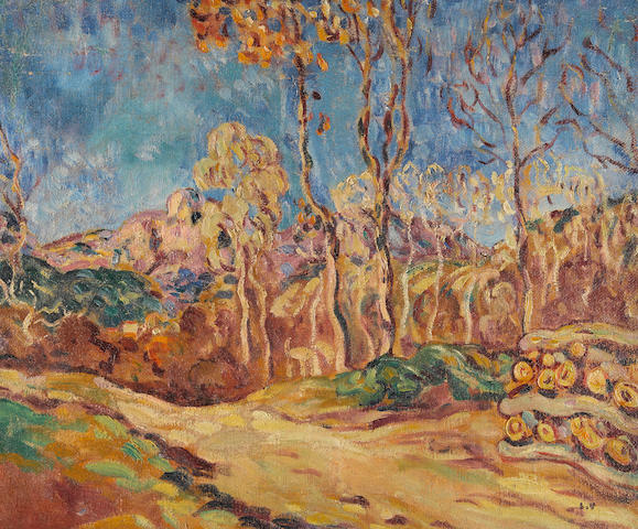Louis Valtat (1869-1952) Paysage du midi 18 x 21 5/8 in (45.7 x 55 cm) (Painted in 1902)