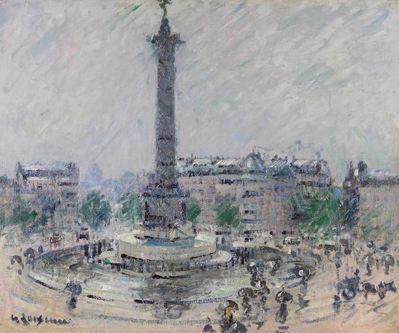 GUSTAVE LOISEAU (1865-1935) Place de la Bastille 19 3/4 x 24 1/8 in (50.2 x 61 cm) (Painted circa 1922)