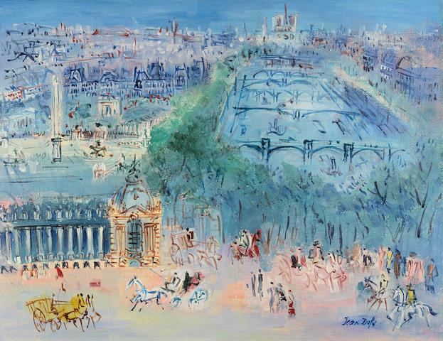 JEAN DUFY (1888-1964) La Seine et le Petit Palais 19 7/8 x 25 3/4 in (50.6 x 65.5 cm)
