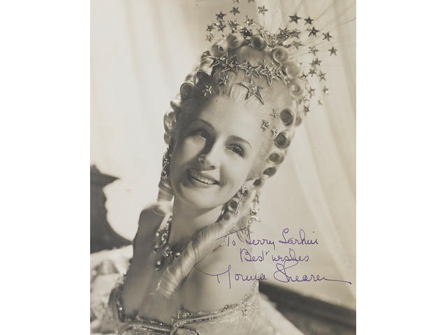 A Norma Shearer signed photo from Marie Antoinette